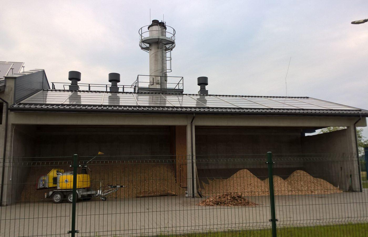 Suszarnia solarna biomasy w Złoczewie