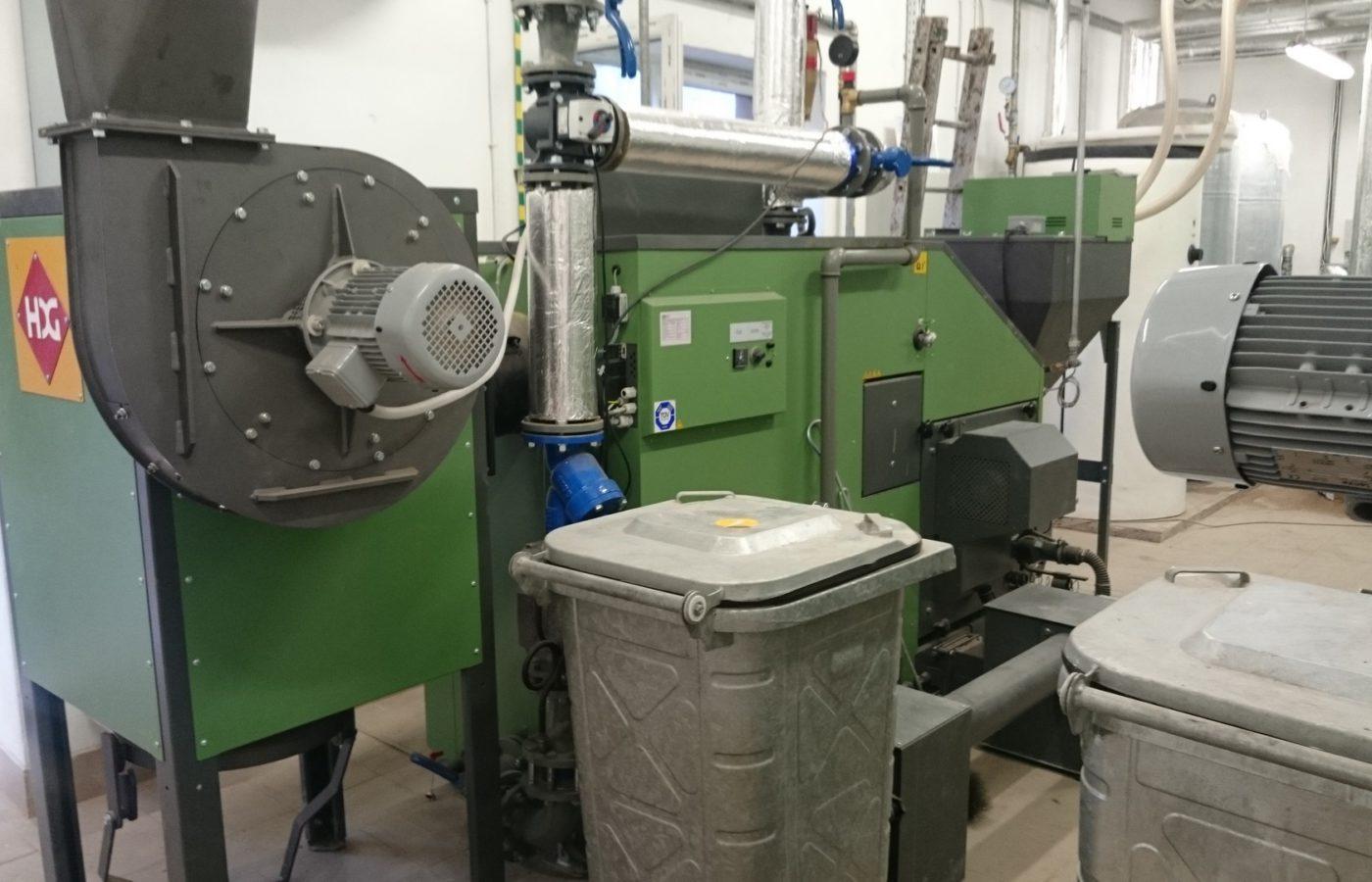 Kotłownia biomasowa w Zespole Szkół Rolniczych w Czarnocinie