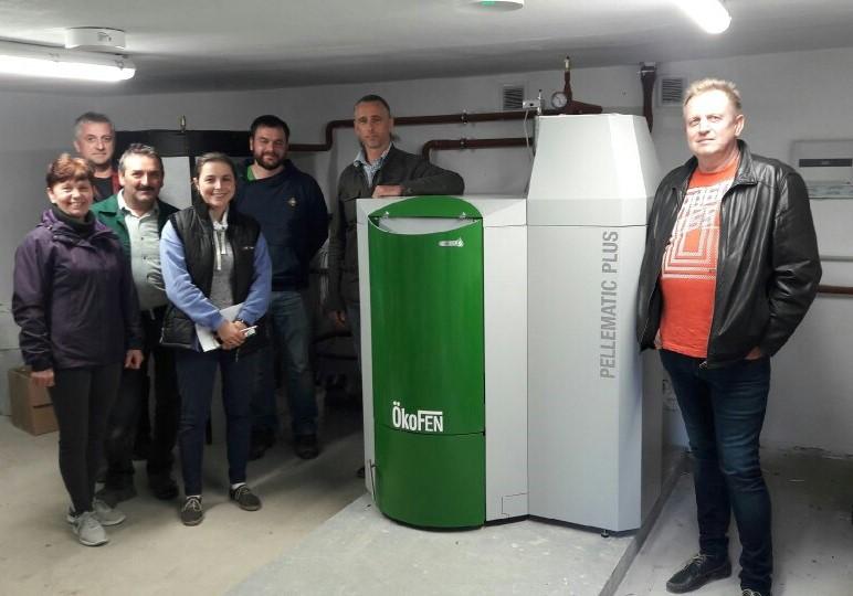 Kocioł Okofen Pellematic 25 kW w Warsztatyach Terapii Zajęciowej w Wiardunkach