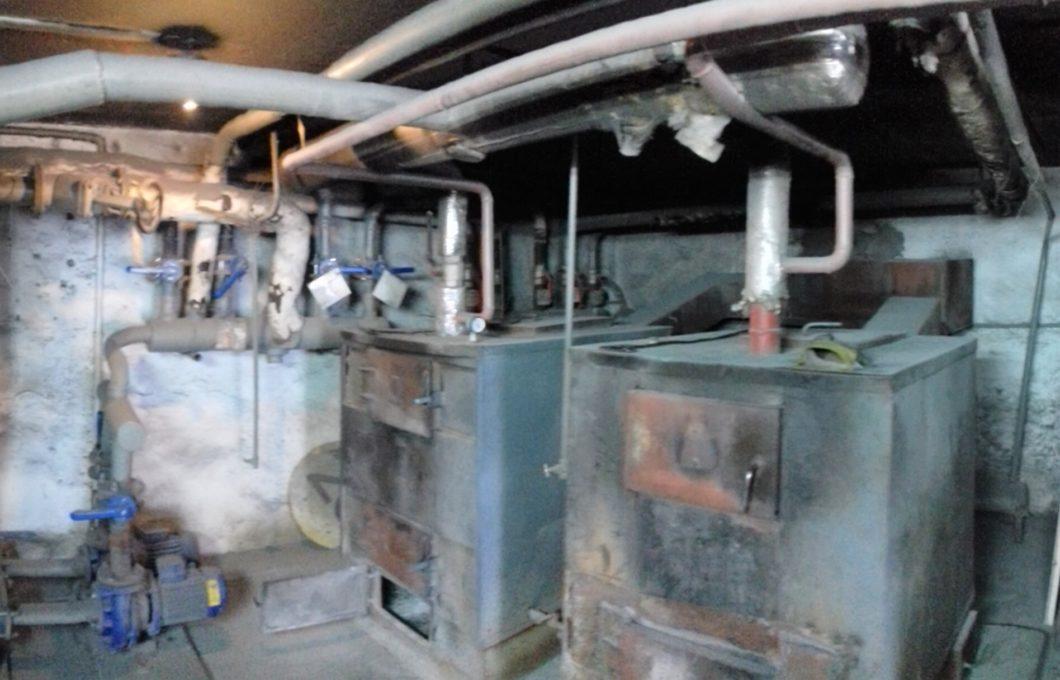 Pompy ciepła w Biskupcu - kotłownia przed modernizacją