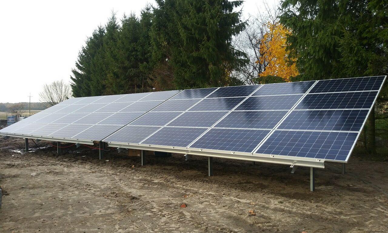 Instalacja fotowoltaiczna 20,5 kW na hydroforni w Krzyżewie