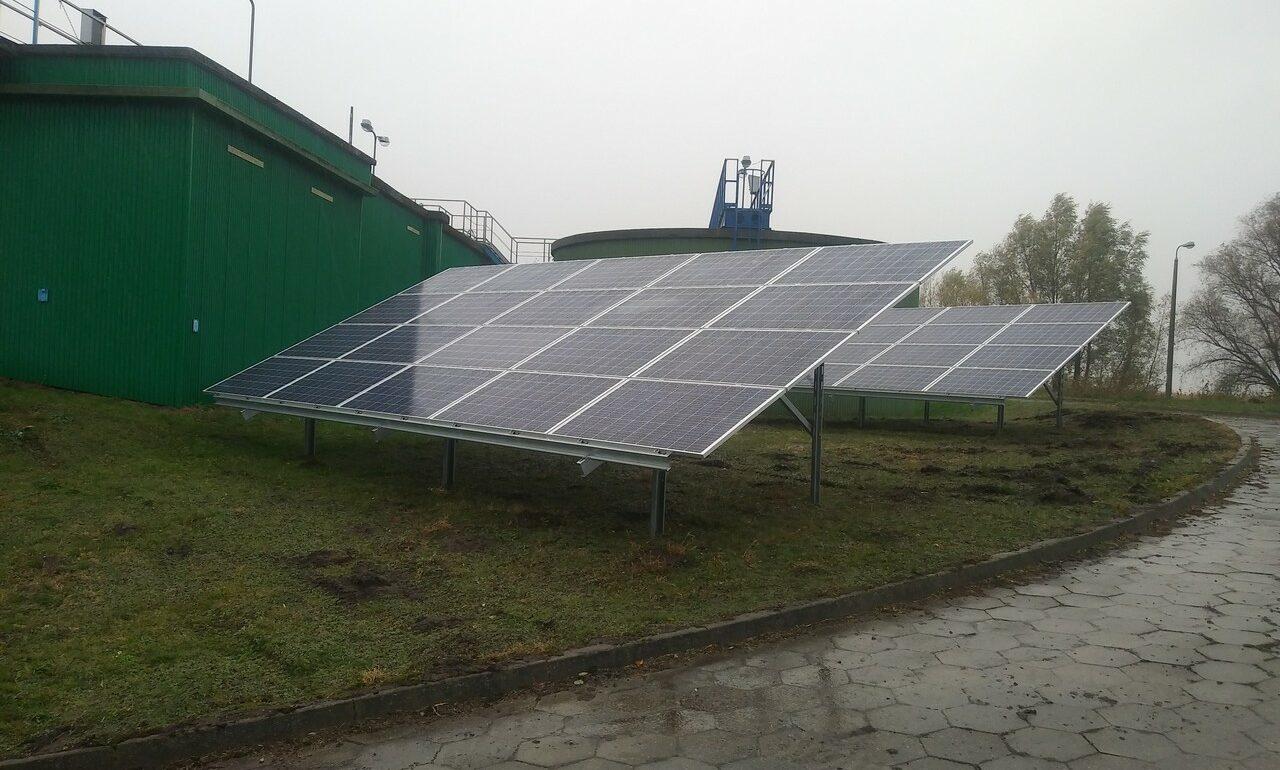 Instalacja fotowoltaiczna 39,6 kWp na oczyszczalniaścieków we Fromborku