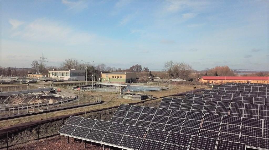 Elektrownia fotowoltaiczna 100 kW na oczyszczalni ścieków w Szczecinku