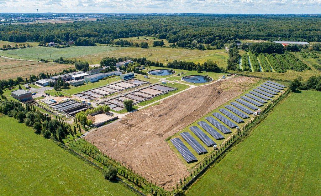 Elektrownia fotowoltaiczna o mocy 0,95 MWp oczyszczalnia ścieków Jamno w Koszalinie